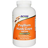 Подорожник (Псилиум), Psyllium Husks, Now Foods, 500 мг, 500 капсул