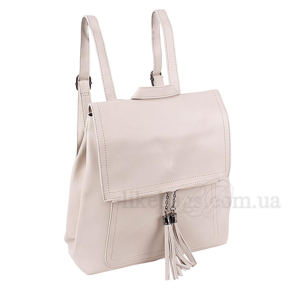 Практичная наплечная сумка-рюкзак женская 408485Bg