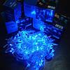 Гирлянда Нить электрическая 100 led, голубая, прозрачный провод, 6,5м., фото 2