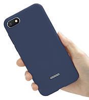 Чехол Style для Xiaomi Redmi 6A Бампер Бампер силиконовый синий