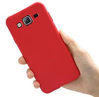 Чехол Style для Samsung J3 2016 / J320 Бампер силиконовый Красный