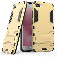 Чехол Iron для Asus Zenfone 4 Max / ZC554KL / x00id бронированный бампер Броня Gold, фото 1