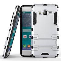 Чехол Iron для Samsung Galaxy Grand Prime G530 / G531 противоударный бампер Silver, фото 1