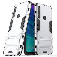 Чехол Iron для Huawei P Smart Z противоударный бампер Silver, фото 1