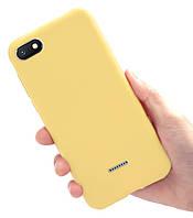 Чехол Style для Xiaomi Redmi 6A Бампер силиконовый Желтый