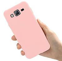 Чехол Style для Samsung J5 2015 / J500 Бампер силиконовый Кремовый