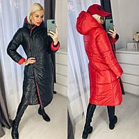Куртка женская на зиму синтепон двухсторонняя С, М, Л