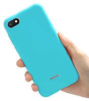Чехол Style для Xiaomi Redmi 6A Бампер силиконовый Голубой