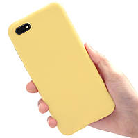 """Чехол Style для Honor 7A / DUA-L22 5.45"""" Бампер силиконовый Желтый"""