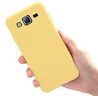 Чехол Style для Samsung J3 2016 / J320 Бампер силиконовый Желтый