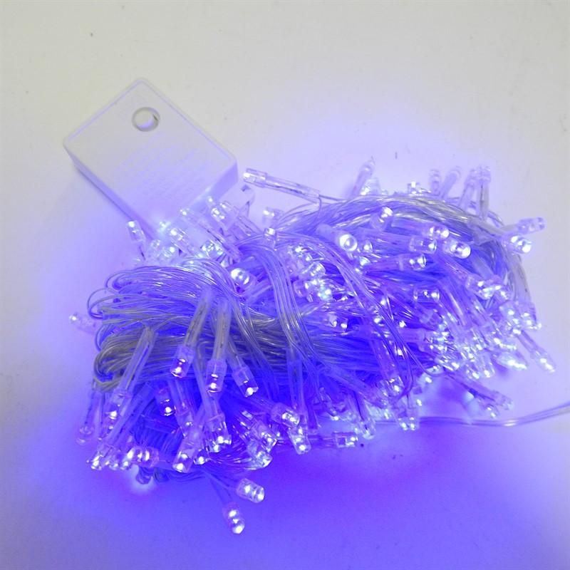 Гирлянда Нить электрическая 500 led, голубая, прозрачный провод, 20м.