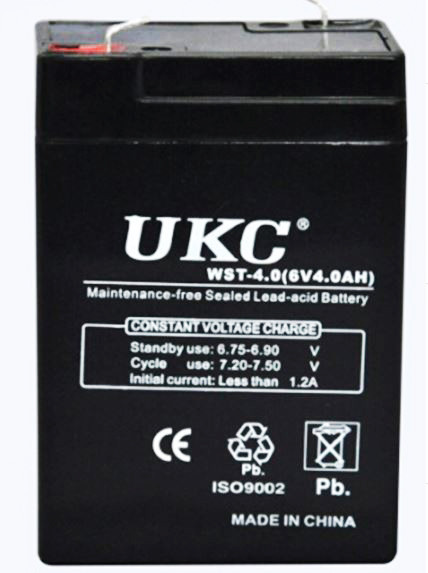 Аккумуляторная Батарея UKC 6 V 4 А