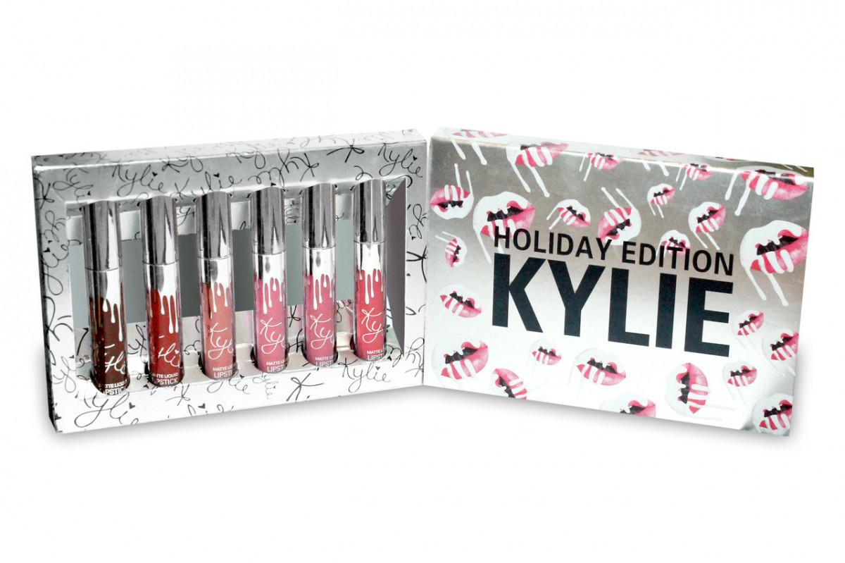 Набор Жидких Помад В Стиле Kylie Holiday Edition 6 в 1