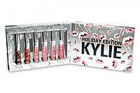 Набор Жидких Помад В Стиле Kylie Holiday Edition 6 в 1, фото 1