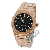 Механические часы Audemars Piguet Royal Oak Gold-Black 0788(ААА копия)