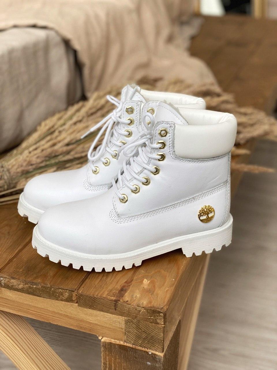 Ботинки женские Timberland 6 inch premium white ber тимберленд