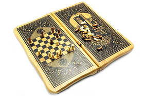 Набор 2 в 1 Шахматы Нарды Бамбук