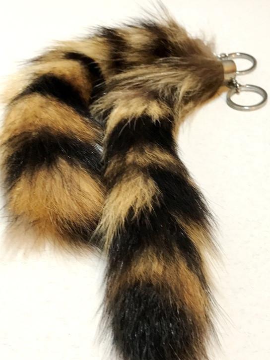 Прикольный Брелок Оригинальный Меховой Сувенир Хвост в упаковке 12 шт, фото 1