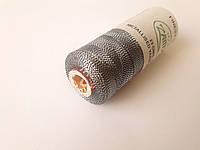 Нитки вискоза для вышивки с люрексом, 23 грам. Індія  № 96 S. Чорні зі сріблом