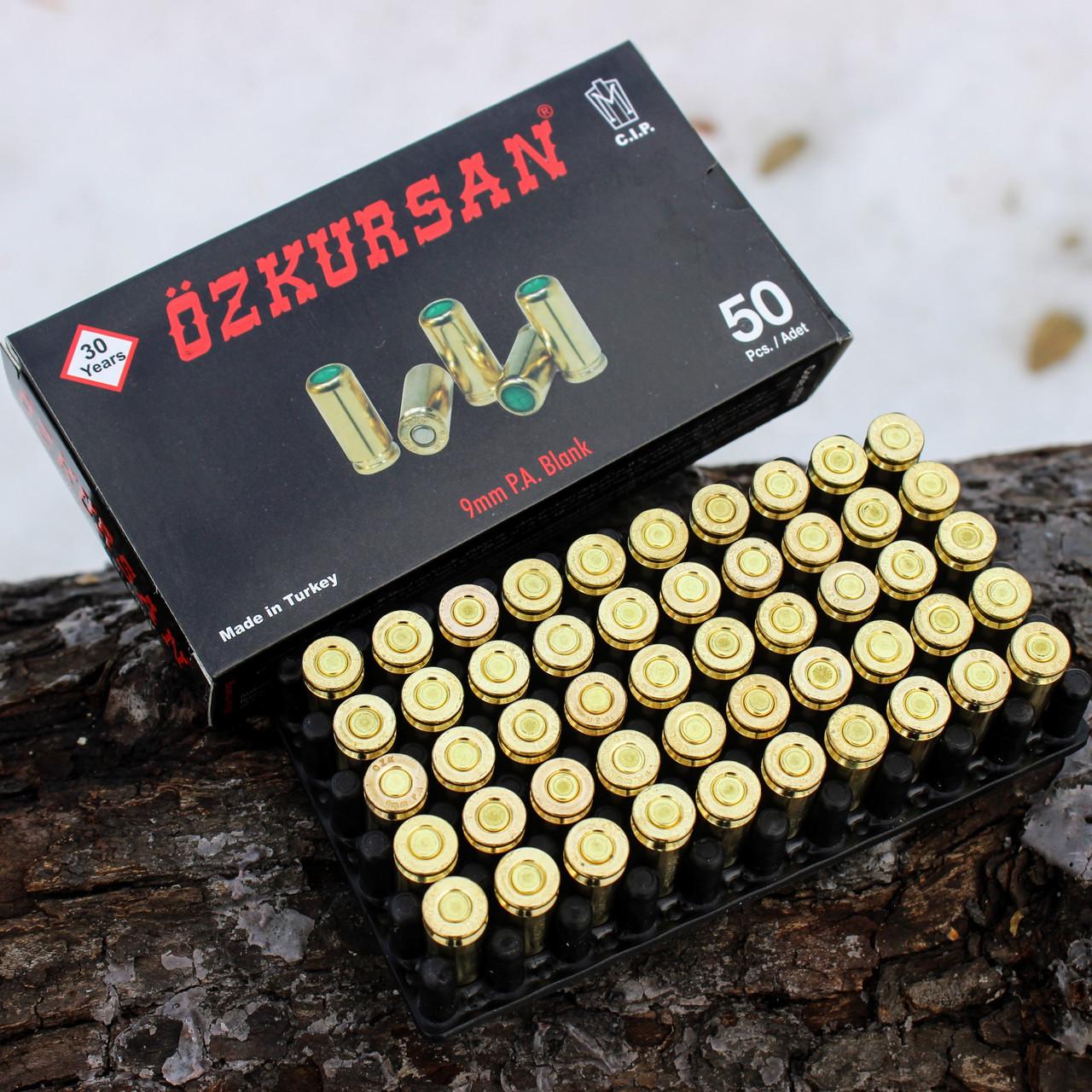 Патроны холостые Ozkursan 9 мм (пистолетные)