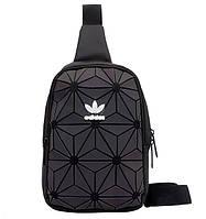 Мессенджер сумка через плечо 3D Adidas Reflective адидас мужская женская сумочка реплика 4081/30