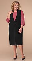 Сукня Лінія-Л-Б-1771 білоруський трикотаж, чорний, 54