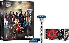 Набор Gillette Mach3 Turbo Justice League (станок + картриджи 3 шт. + очки VR) 01199