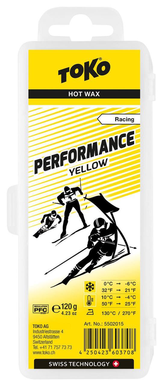 Воск Toko Performance Yellow 120g