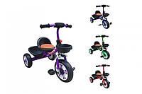Детский трехколесный велосипед Малятко Т-318, гномик, мягкое сиденье