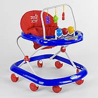 Ходунки Joy 992 музыкальная панель Красно-синий R189859