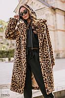 Шикарная леопардовая шуба