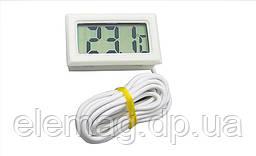 Термометр с выносным датчиком 1м белый