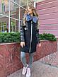 Зимнее женское пальто  с натуральным мехом чернобурки, фото 4