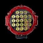 Фара LED круглая 63W (21 лампа) red, фото 5