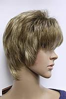 Парик из искусственных волос короткая стрижка светло русый с мелированием