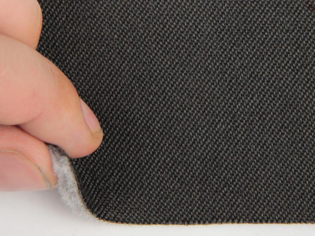 Ткань для сидений автомобиля, темно-серый, на поролоне и войлоке (для боковой части), толщина 4мм Германия