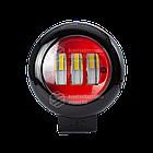 Фара LED круглая 30W (3 диода) red, фото 3