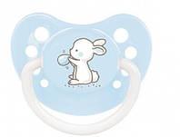 Пустышка силиконовая анатомическая (0-6 месяцев) ТМ Canpol Babies 23/262 голубой цвет