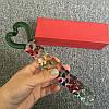 Фалос стеклянный цветной с ручкой сердечком Rainbow Loveпрозрачный радужный, фото 4