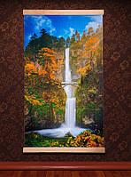 🔝 Картина обогреватель Трио (водопад с мостиком) настенный пленочный инфракрасный электрообогреватель | 🎁%🚚