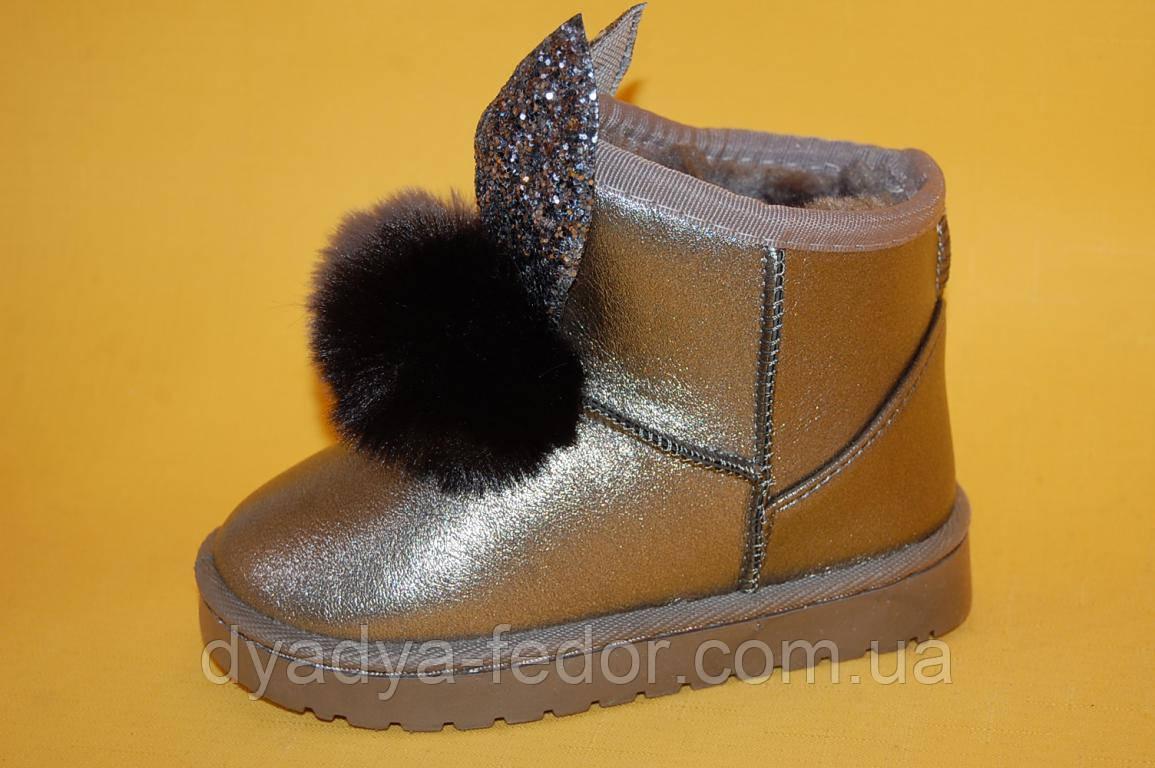 Детская зимняя обувь Уги No brend Китай m09 Для девочек Срібло розміри 25_30