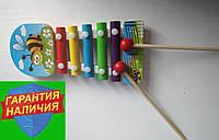 Деревянная игрушка Музыкальный ксилофон 5 тонов Пчелка