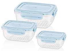 Набір контейнерів BAGER COOK&LOCK 3 пр. Пластик MIX (BG-526)