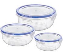 Набір контейнерів BAGER COOK&LOCK 3 пр. Пластик Прозорі (BG-518)