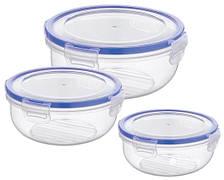 Набір контейнерів BAGER COOK&LOCK 3 пр. Пластик Прозорі (BG-519)