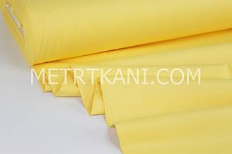 Сатин  желтого цвета   ширина 240 см № ПС-0006