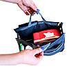 Органайзер-вкладыш для сумки ORGANIZE украинский аналог Bag in Bag (серый), фото 4
