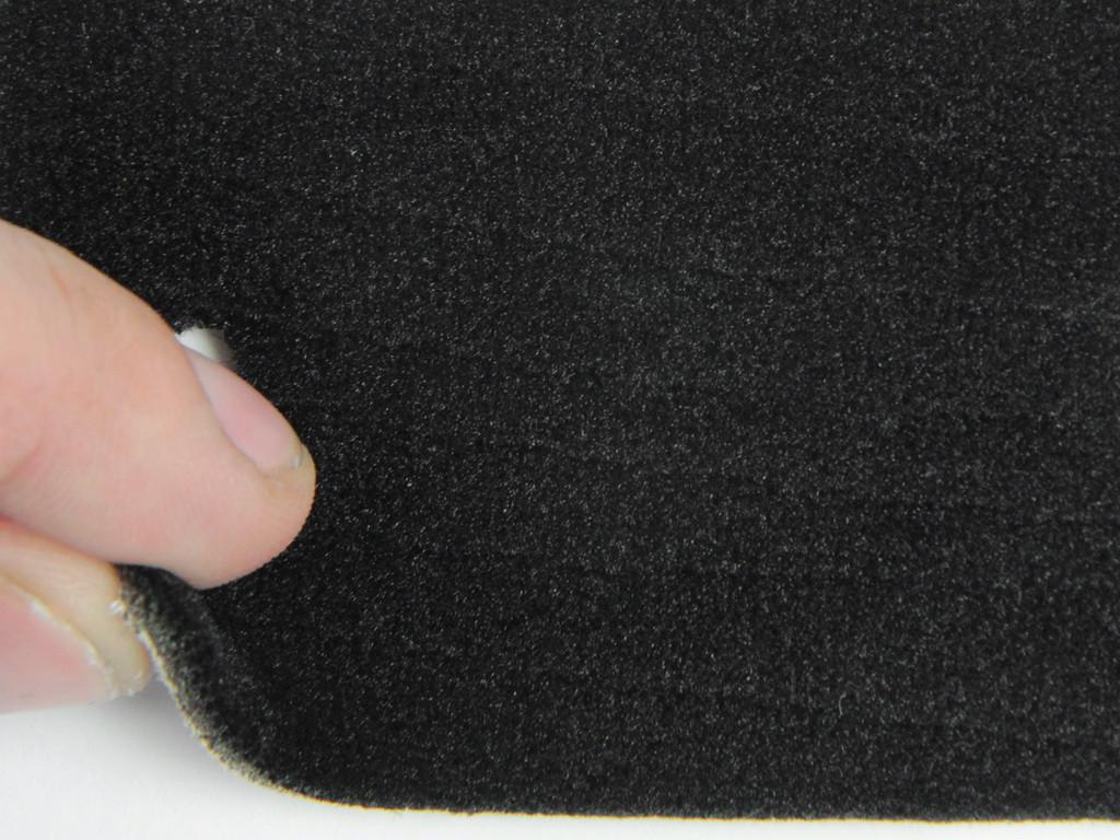 Ткань велюр для сидений автомобиля, черный на поролоне и сетке (для боковой части), толщина 3мм