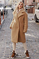 Модное меховое пальто женское 2 цвета