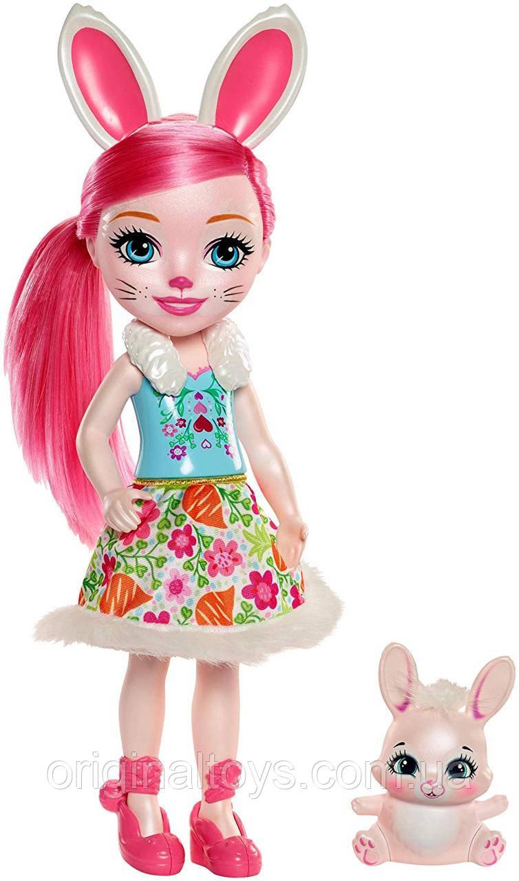 Большая кукла Enchantimals Бри Кроля и зайка Твист Bree Bunny FRH52